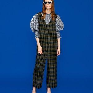Zara Plaid Jumpsuit